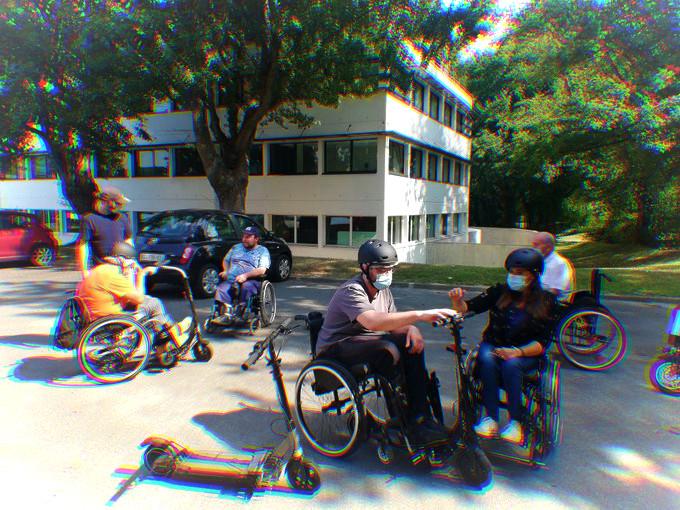 Test de la fixation Omni à la délégation de Nantes